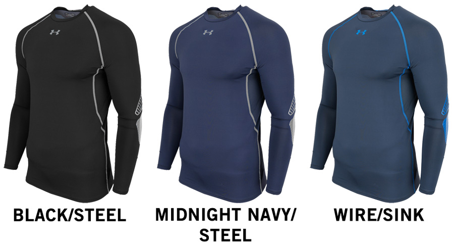 Under armour purestrike grippy compression sr long sleeve for Under armor hockey shirt