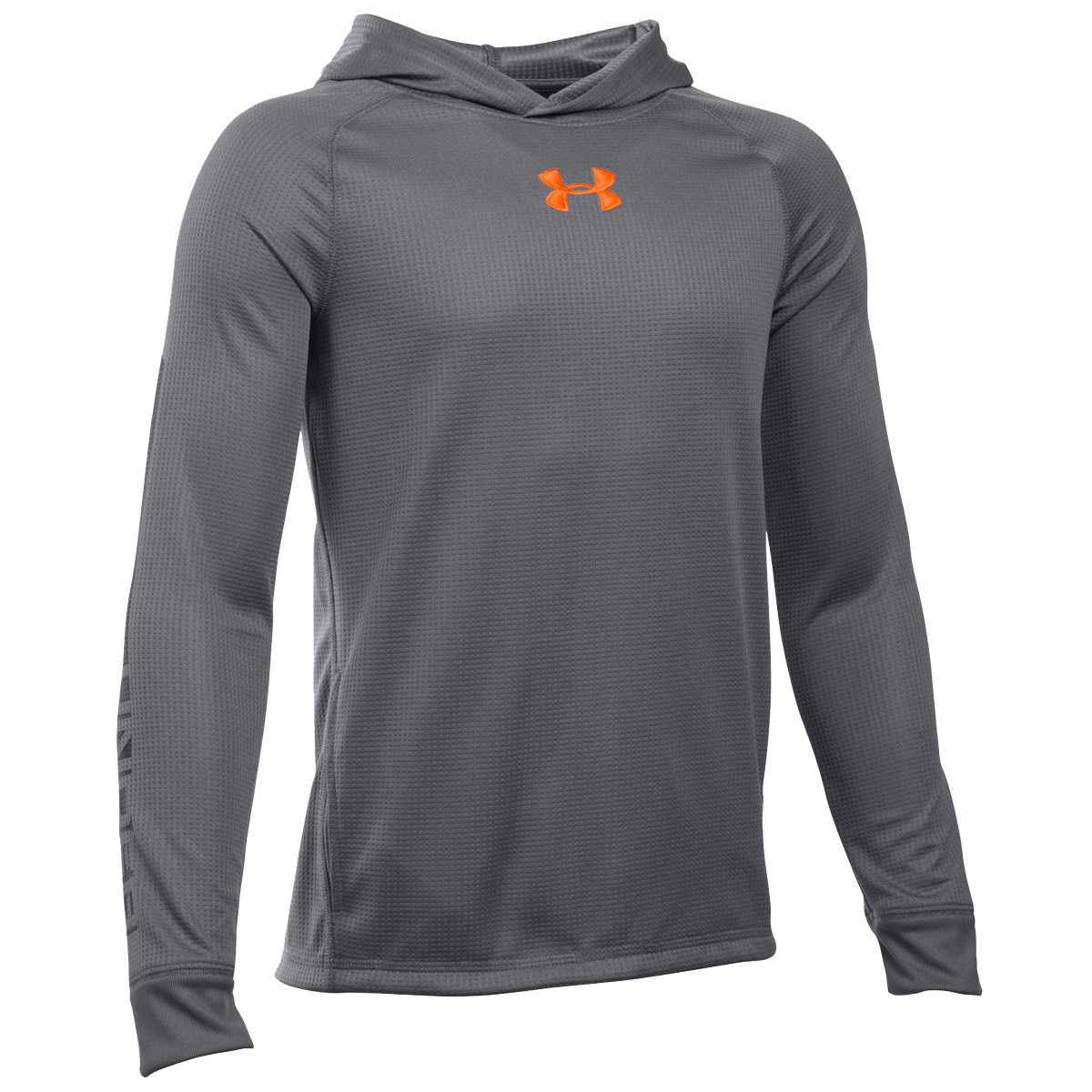 Under armour waffle yth pullover hoody for Under armor hockey shirt
