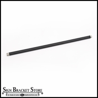 "1/2"" Dia. x 30"" Galvanized Steel Arm Extension - Black"