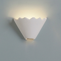 "10.5"" Imperfect Edges Modern Funnel Sconce"