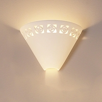 "10.5"" Light Funnel Wall Sconce w/ Abstract Pattern"