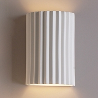"10""  Accordion Geometric Wall Sconce"