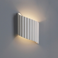 "10"" Accordion Ribbon Contemporary Wall Sconce"
