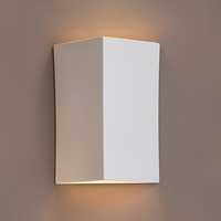 "10"" Angled Face Geometric Ceramic Sconce"