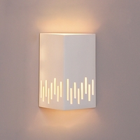 "10"" Angled Face Geometric Sconce w/ Vertical Line Border"