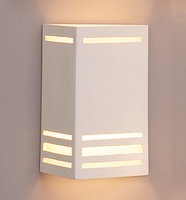 "10"" Angled Faces Geometric Sconce w/ Horizontal Bars"