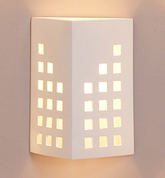 "10"" Cityscape Geometric Wall Sconce"