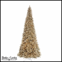 10 ft Champagne Pre-Lit Artificial Christmas Tree w/ Clear Lights