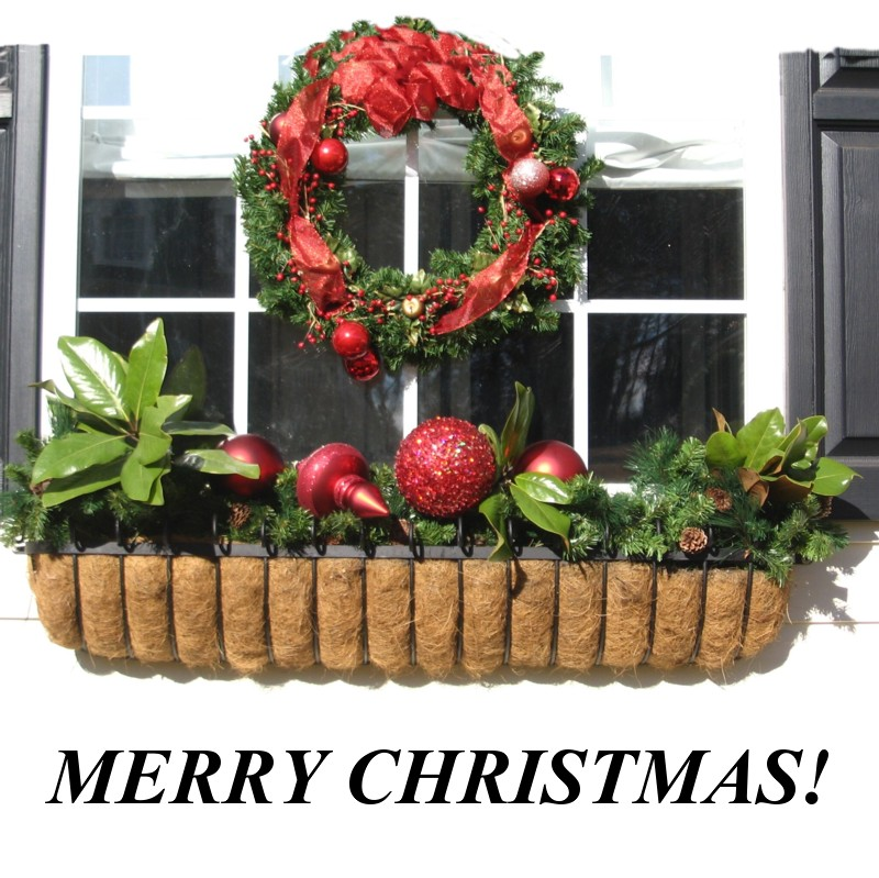 10 great ways to decorate your window boxes for the holidays - Window Box Christmas Decorations