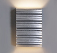 "10"" Ribbed Steel Wall Sconce - Horizontal Pattern"