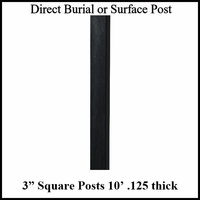 10' Square Aluminum Post