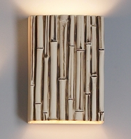 "10"" Thin Bamboo Reed Wall Sconce - Authentic Finish"