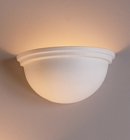 "11"" Deep Bowl Theatre Sconce w/ Ridges"