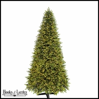 11 ft Mountain Pre-Lit Fir Artificial Christmas Tree w/ Warm White LED Lights