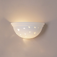 "11"" Starry Night Ceramic Bowl Sconce"