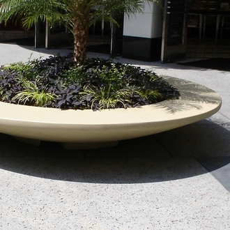 "112"" Dia. x 18""H Rosetta Bowl Bench Planter"