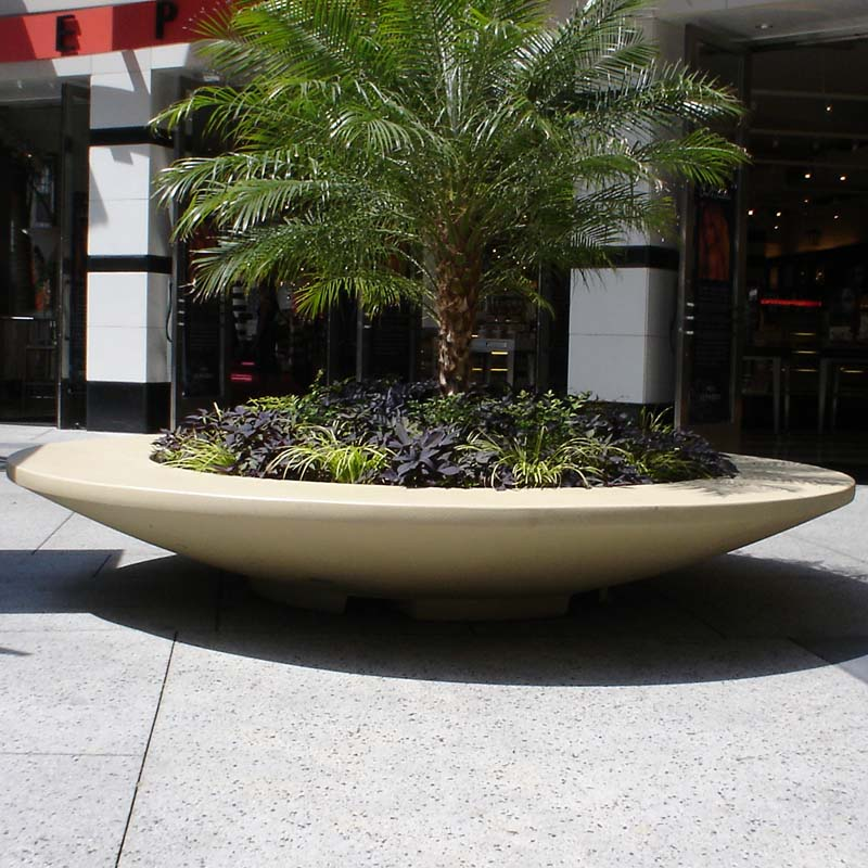 Very Rosetta Bowl Planter Bench 112in.Dia. X 18in.H AY96
