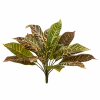 11in. Outdoor Artificial Croton Bush