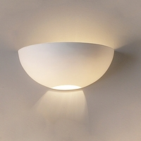 "12.5"" Elegant Ceramic Bowl Wall Sconce"