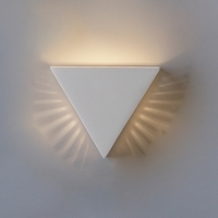 "12.5"" Inverted Pyramid Wall Sconce w/ Side Slits"