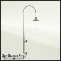 "12"" Barn Light Shade w/ 85"" High Gooseneck Arm Extension - 27.25""W x 3/4"" Dia. Arm"