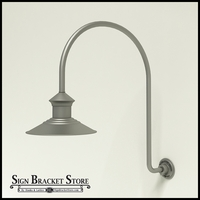 "12"" Barn Light Shade w/ Gooseneck Arm Extension -  25.25"" x 3/4"" Dia. Arm"