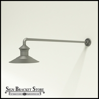 "12"" Barn Light Shade w/ Gooseneck Arm Extension - 37.5"" x 3/4"" Dia. Arm"