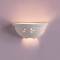 "12"" Gardener's Delight Ceramic Bowl Sconce"