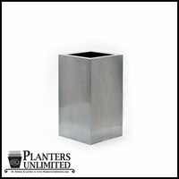 Stainless Steel Commercial Planter 12in.L x 12in.W x 24in.H