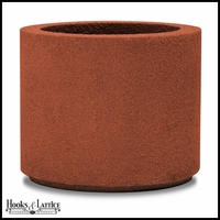 Banbridge Round Planter with Toe Kick - Red Clay
