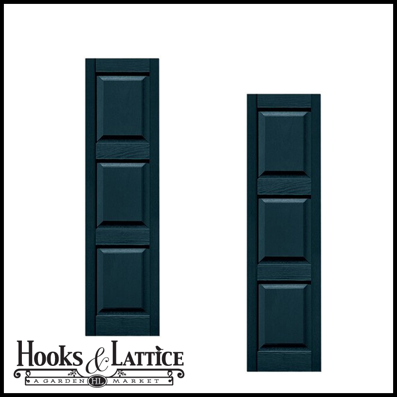 12 wide three equal panel shutters custom product pair for 18 inch wide exterior shutters