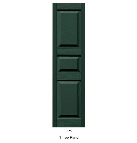 Three unequal panel shutters 12 wide pair for 18 inch wide exterior shutters