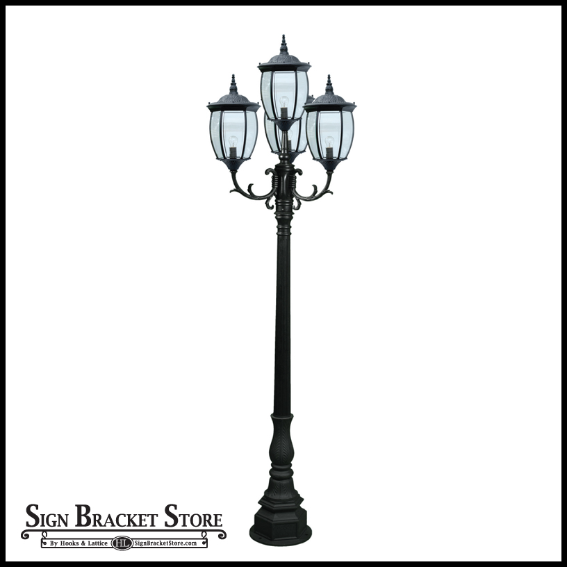 Residential victorian street light with 4 lamps victorian outdoor lamp post click to enlarge workwithnaturefo
