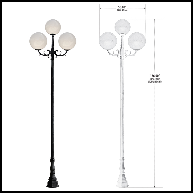Art deco large globe light street light click to enlarge mozeypictures Images