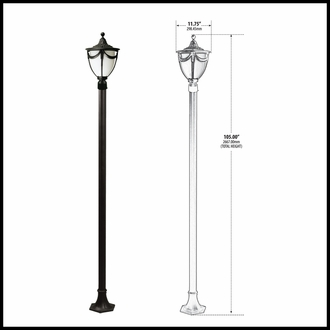 120v Powder Coated Cast Aluminum Decorative Street Light