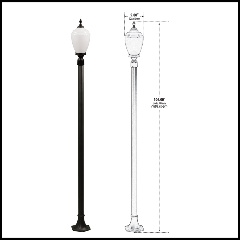 Exterior Lamp Post Light Fixture 120v