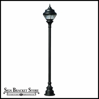 120v Powder Coated Cast Aluminum High Output HID Lamp Post Fixture with Decorative Base