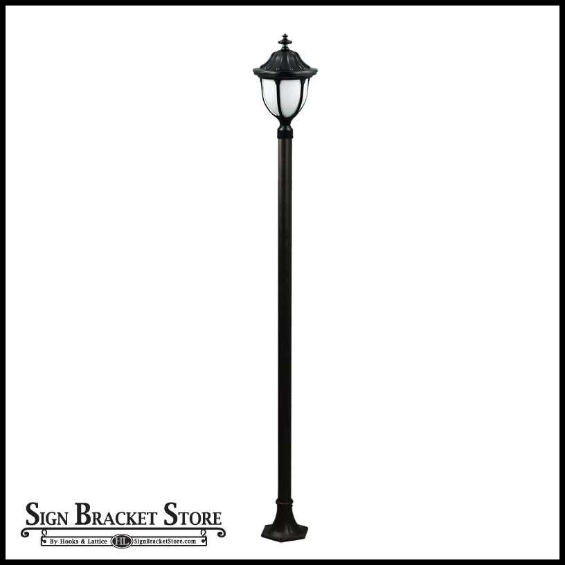 Old time outdoor lamp post 120v powder coated cast aluminum old time outdoor lamp post click to enlarge workwithnaturefo
