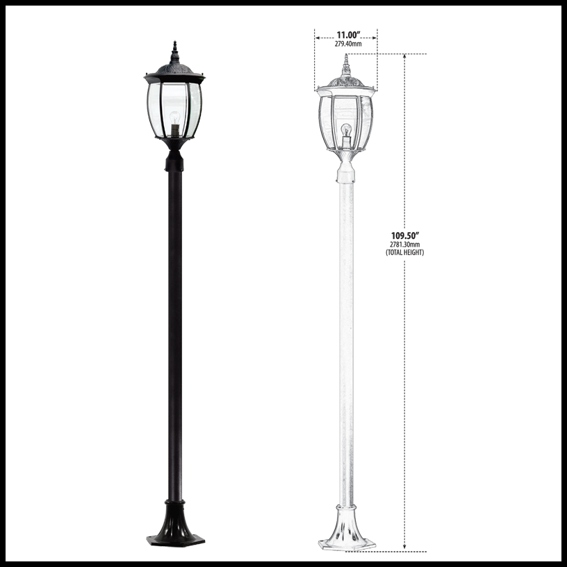 Victorian outdoor lamp post neighborhood lighting aluminum victorian outdoor lamp post click to enlarge mozeypictures Images