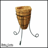 12in. Beehive Planter with Tripod Stand with Coco Liner
