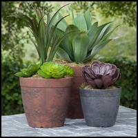 10in. Durante Round Flower Pot - 2 Colors