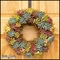 12in. Tri-Color Succulent Wreath