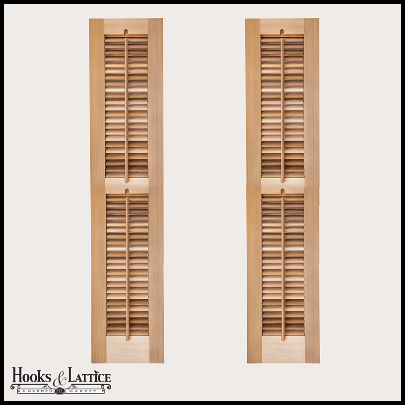 Exterior: Louvered Exterior Window Shutters