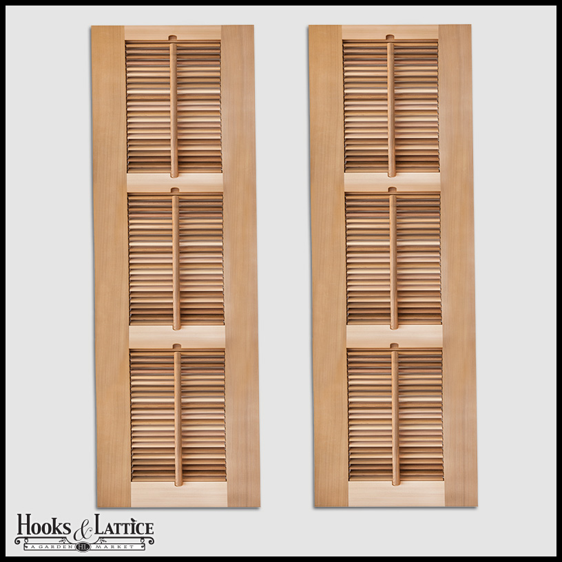 Custom wooden plantation outdoor shutters hooks lattice Aluminum exterior plantation shutters