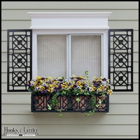 12in. Wide Alexandria Aluminum Decorative Shutters in Black - Pair