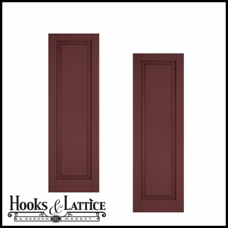12in. Wide - Architectural Collection Raised Single Panel Shutters (pair)