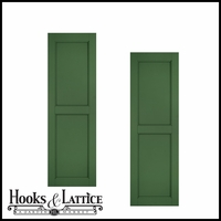 12in Wide - Architectural Collection Raised Two Panel Composite Fiberglass Shutters (pair)