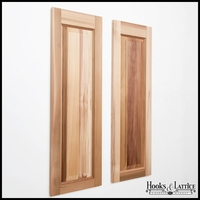 12in. Wide Cedar One Panel Design - Exterior Shutter Pair