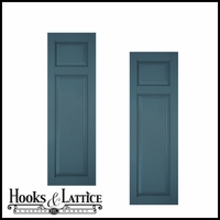 12in. Architectural Collection Raised 2 Unequal Panel Shutters (pair)