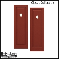 12in. Wide - Designer Collection Raised Single Panel Classic Collection Composite Exterior Shutters (pair)